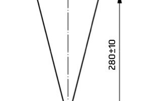 "<div class=""bildtext"">Marsh-Konus, Abmessungen in mm</div>"