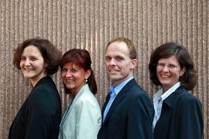 Das FDB-Team unter der Federführung von Dipl.-Ing. Dipl.-Wirt. Ing. Elisabeth Hierlein freut sich über die Verstärkung durch Alice Becke (v.l.n.r. Becke, Loosen, Tillmann, Hierlein).