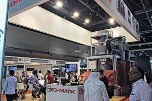 The Techmatik booth at the Big 5 Dubai 2015 trade fair