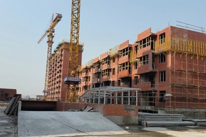 """<div class=""""bildtext_en"""">The company, Shanghai Citi-Raise Construction Group, is building multi-level, multi-family homes with their new Spancrete precast system</div>"""