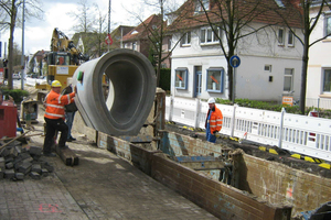 Rund 560m Stahlbeton-Eiprofile wurden in der Alexanderstraße in Oldenburg eingebaut<br />