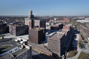 "<div class=""bildtext_en"">On the former plot of the Dortmund Union brewery the large-scale ­urban development project of the ­vocational college the so-called ""Dortmunder U – Das Viertel"" (""Dortmund U – The Quarter"") has been completed now</div>"
