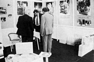 """<div class=""""bildtext_en"""">The US-American Columbia Machine company used large photos and plans to publicize its products at Bauma 1986</div>"""