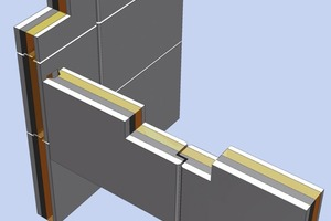 Fig. 4 The new wall module includes various shell thicknesses, heights, corner details, joints etc.