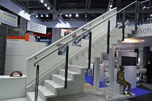 "<div class=""bildtext_en"">This slender and elegant staircase presented at a trade show is one of many good examples of what can today be made with cast stone</div>"