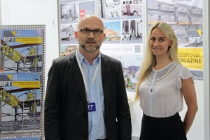 """<div class=""""bildtext_en"""">The team of the BFT International trade magazine on the joint booth of Imag, Anmopyc and BFT International </div>"""