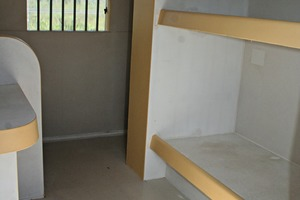 "<div class=""bildtext_en"">Fig. 2 looking at the inside of the Siscopen prison cells, Fig. 1 from the outside: Even the furnishing consists of precast ­vandal-proof, high-strength concrete</div>"
