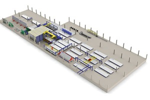 The 3D layout of the new production plant for the Chilean market