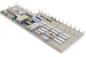 Das 3D-Layout der neuen Produktionsanlage für den chilenischen Markt