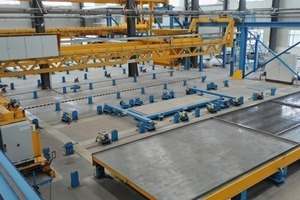 The new factory in Shenyang is furnished with different compacting units for all ­possible element types