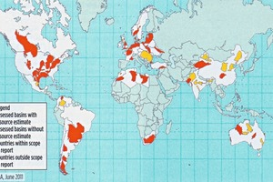 Weltweite Schieferöl- und -gasvorkommen