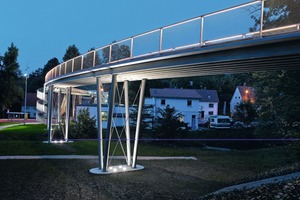 "<div class=""bildtext_en"">Footbridge in the German city of Albstadt – fiberglass instead of steel as reinforcement</div>"