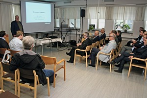 "<div class=""bildtext_en"">Kari Turunen, Vice President of the precast business unit of Lujabetoni, welcomes a delegation of Fib andCerib as well as representatives of BFTInternational</div>"