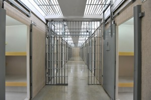 The interior of the completely prefabricated penitentiary center in Brazil