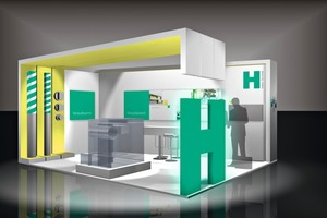 """<div class=""""bildtext_en"""">H-Bau Technik will use this stand design at the Bau trade show </div>"""