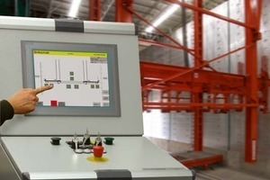 Touchscreen for operating pallet rotation.<br />