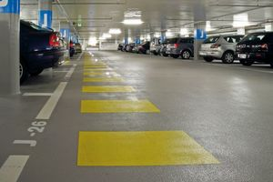 """<div class=""""bildunterschrift_en"""">The wear layer Sika Elastomastic TF provides especially resistant surface protection for concrete floors </div>"""