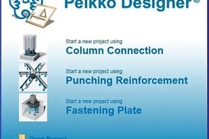 "<span class=""bildunterschrift_hervorgehoben"">Fig. 1</span> Startup panel of Peikko Designer<sup>®</sup>.<br />"