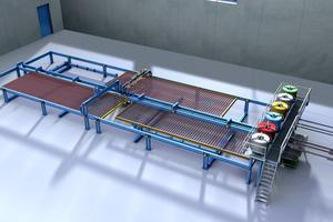 The new modular mesh welding machine type MSM-M of MBK