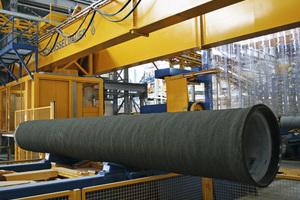 Vorgespannte PCCP-Betondruckrohre mit innenliegendem Stahlzylinder sind absolut dicht und für Betriebsdrücke bis 25 bar einsetzbar