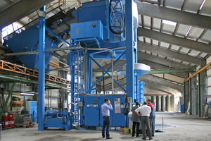"""<div class=""""FB BU Zahl"""">2</div>The BiDi A-60 x 4.0 m pipe production plant from Besser shortly after commissioning"""