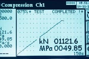 "<span class=""bildunterschrift_hervorgehoben"">Fig. 1 </span>Load vs time plot shows outstanding performance of an automatic testing machine.<br />"