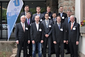 Dipl.-Ing. Dipl.-Wirtsch.-Ing. Martin Möllmann, marketing director of Dyckerhoff (1st row left), welcomed the speakers of this year's Nanodur conference held in Kirchheim­bolanden