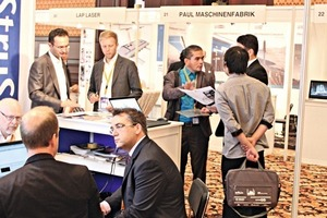 "<div class=""bildtext_en"">A total of 67 companies of the international construction industry presented themselves at their booths, including our trade journal, BFT International, with a display of journals in the entrance area</div>"