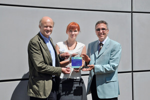Professor Josef Hegger (IMB), project manager Silke Tomoscheit (ITA), professor Thomas Gries (ITA) (from left to right)