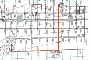 """<div class=""""bildtext_en"""">→ 3 Plan of the ground slab with section, crane foundation, 1st casting section </div>"""