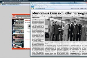 "<span class=""bildunterschrift_hervorgehoben"">Fig. 9</span> Newspaper reports on the website are also very effective in terms of publicity and advertisement … (Florack Bauunternehmung).<br />"