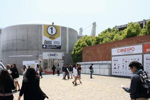 "<div class=""bildtext_en"">The exhibition center Espacio Riesco in Santiago de Chile consisting of several concrete buildings was an ideal venue of Conexpo Latin America</div>"