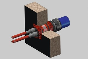 """<span class=""""bildunterschrift_hervorgehoben"""">Fig. 1b</span> HSI 150 installed in a concrete wall and with both-sided utilization of the system seals."""