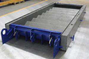 """<div class=""""bildunterschrift_en"""">The staircase formwork of Weckenmann is perfectly suitable for the flexible production of stairs on stationary tables or on pallets in a circulation system</div>"""