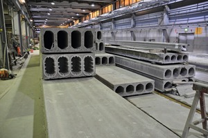 "<div class=""bildtext_en"">The hollow core floor slabs are manufactured in lengths of up to 20 m and thicknesses of up to 500 mm</div>"