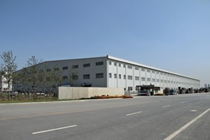 Industrial building of Wanrong having an overall size of 22,000 m² and grounds covering 70,000 m²