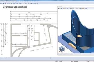 """<div class=""""bildunterschrift_en"""">3D formwork plan made with the aid of Strakon</div>"""