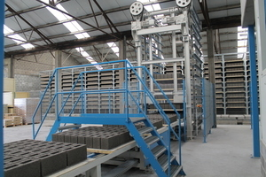 Rotho rack system with lowerator and latch conveyor