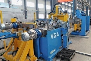 The VGA 215 welding machine for lattice girders automatically produces lattice girders in the heights and lengths required, being cut to size accordingly