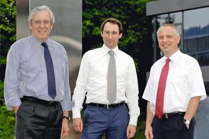 The new management of BHS-Sonthofen with Dr. Christof Kemmann, Dennis Kemmann and Dr. Angelo Schmandra