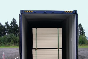 """<span class=""""bildunterschrift_hervorgehoben"""">Fig. 1 </span>The DuroBoards<sup>®</sup> of Assyx are manufactured at their factory site in Andernach-Miesenheim, from where they are carried by truck to the nearby river boat container harbor in Andernach. The production boards are then shipped from the international port in Rotterdam within 20 days to Saudi Arabia.<br />"""