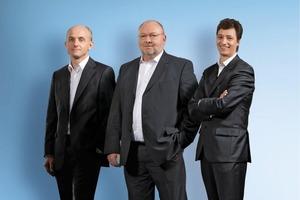 """<span class=""""bildunterschrift_hervorgehoben"""">Fig. 1</span> Management of the Schöck Group (f.l.t.r.): Dr. Harald Braasch, Nikolaus P. Wild (Vorsitzender) und Michael Schmitz."""