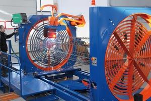 SSM Korbschweißmaschine zur Fertigung von Rund- und Vierkantbewehrungen für Ramm- und Bohrpfähle, Stützen und Träger (Schutzgasverfahren)