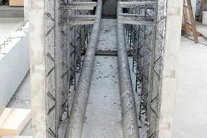 Trogförmiges Halbfertigteil aus Gitterträger-decken-Elementen