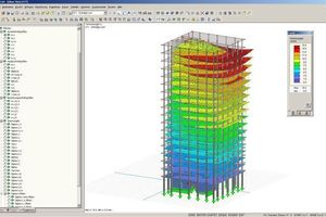 One of the many benefits offered by BIM is the option of optimizing the load-bearing structure using the FE method