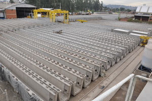 Storage area for the U-shaped girders<br />