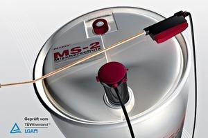 "<span class=""bildunterschrift_hervorgehoben"">Fig. 1</span> The Pucest<sup>®</sup> MS-2 Mixer Cleaning Agent stored in a drum with spraying machine.<br />"
