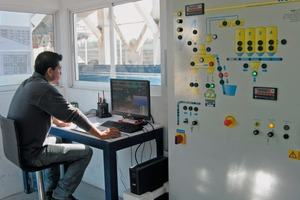 View of the control room