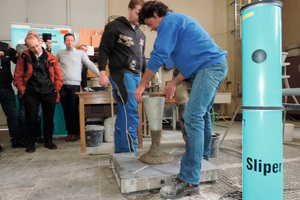 """<div class=""""bildtext"""">Auf dem Praxisworkshop kam am zweiten Veranstaltungstag unter anderem der """"Sliper"""" zum Einsatz</div>"""
