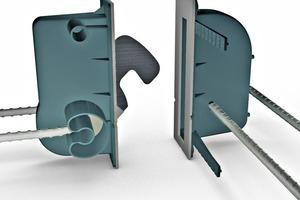 """<div class=""""bildtext"""">Durch das Schließen des Tenloc-Elementverbinders werden die Wände aneinander gezogen und es entsteht ein Fugenschluss </div>"""